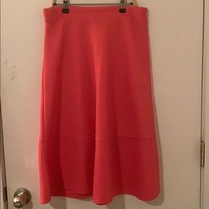H&M Hot pink textured midi skirt